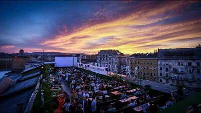 The rooftop cinema towering Budapest